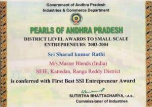 PEARLS of Andhra Pradesh Award