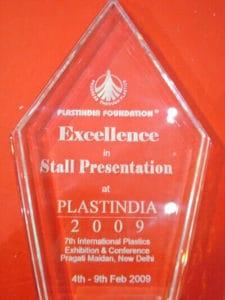 Best stall presentation of PLASTINDIA 2009