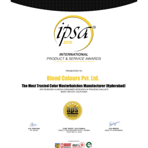 """IPSA 2019 Award- """"The Most Trusted Colour Masterbatches Manufacturer"""""""